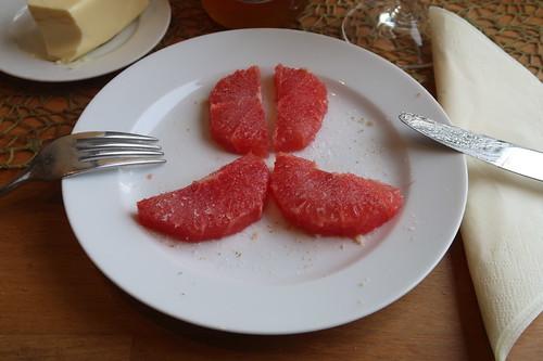 Gezuckerte Grapefruitscheiben