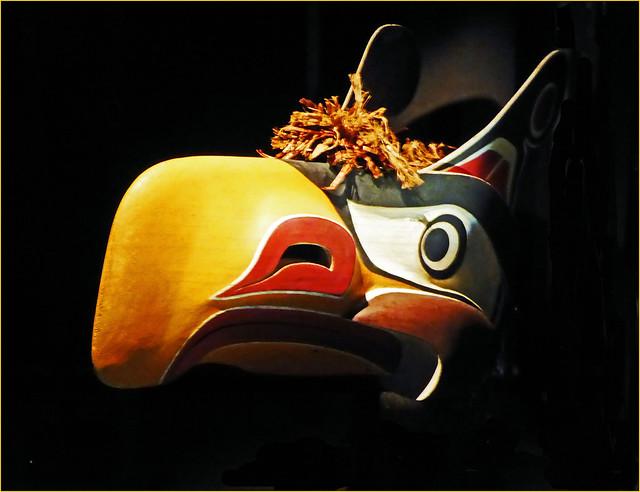Native American mask....Victoria  Museum Canada