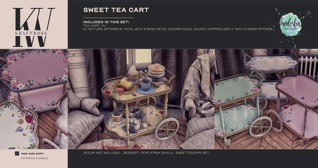 SALE KraftWork Sweet Tea Cart for Wanderlust