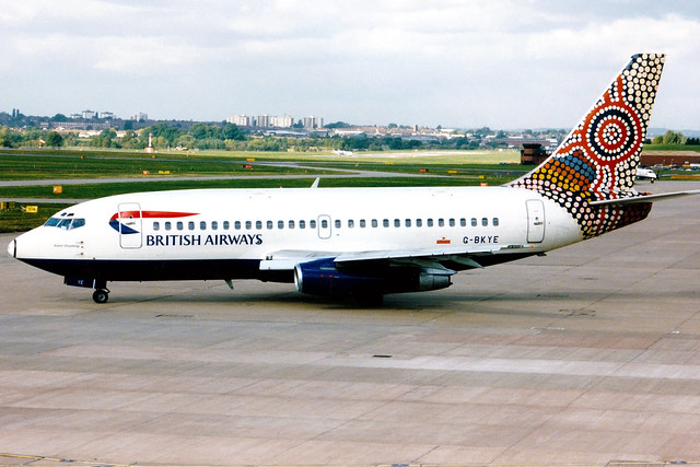 British Airways | Boeing 737-200 | G-BKYE | Water Dreaming | Birmingham International