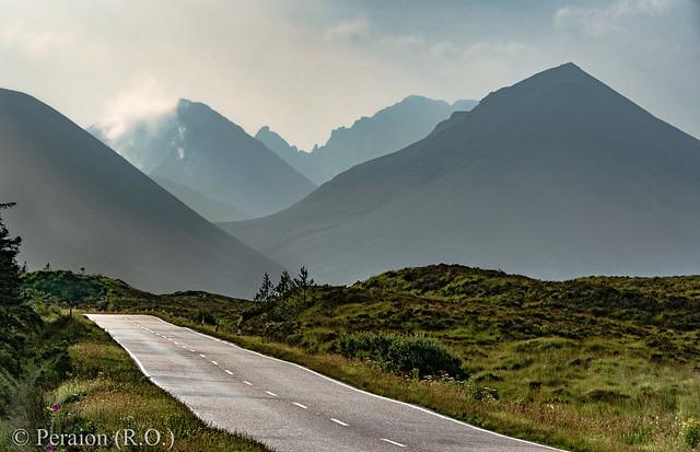 The way to the peaks, Isle of Sky, Scotland