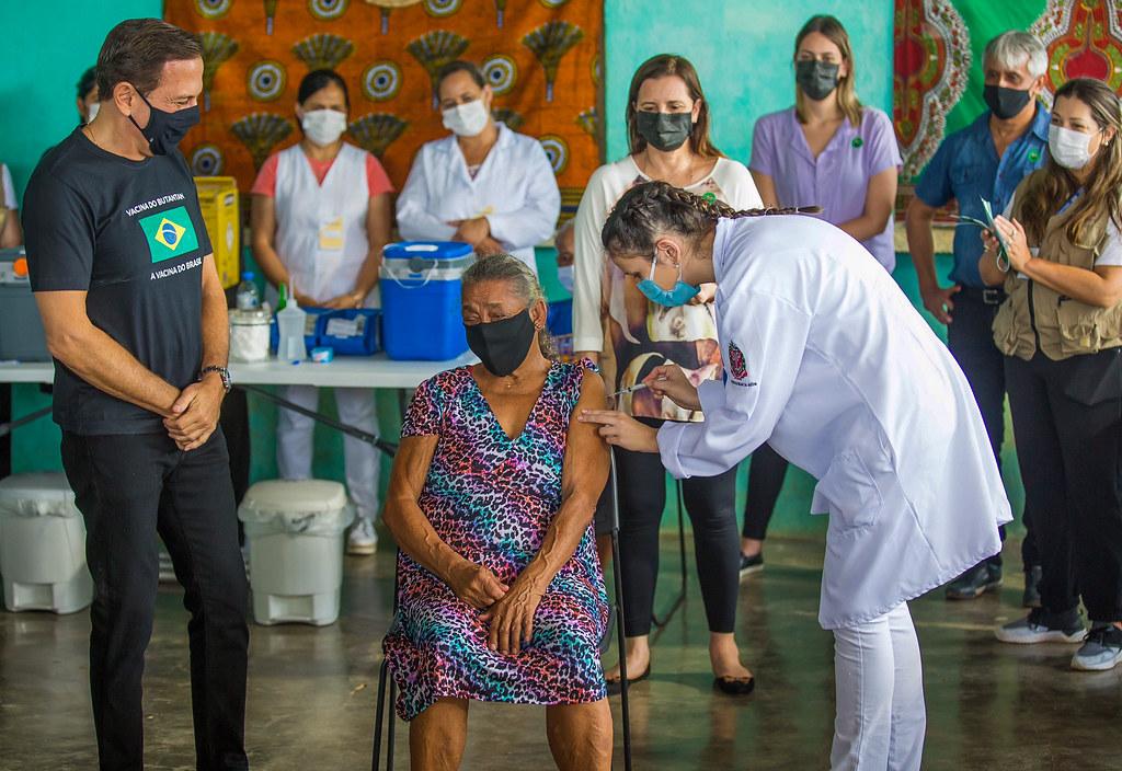 Vacinação na Comunidade Quilombola em Eldorado