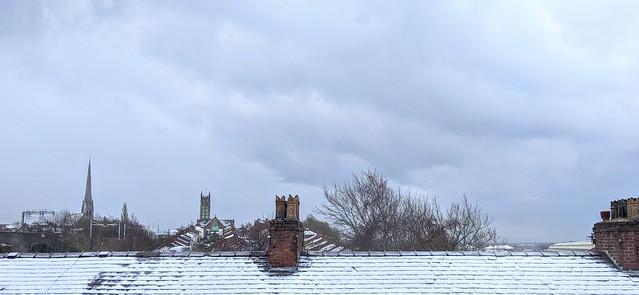 Wintery Preston rooftops