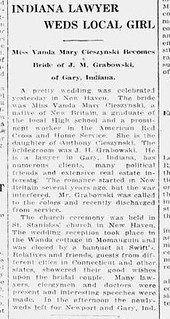 2021-01-23. New-Britain-Herald-Jul-31-1919-p-10 Grabowski-Cieszynski wedding