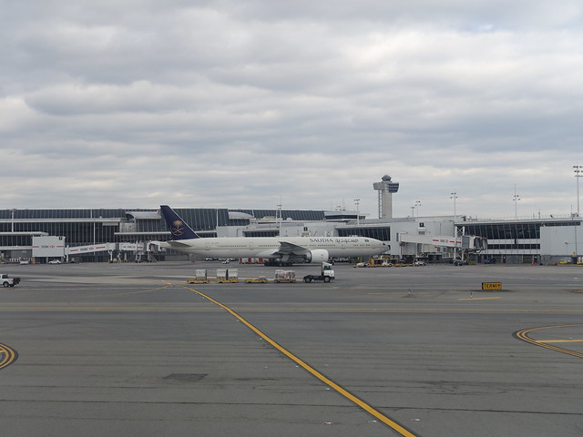 202101147 New York City Queens JFK airport with Saudia airplane