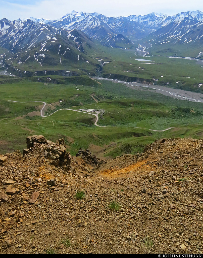 20180704_31 View of the Eielson Visitor Center from the Eielson Alpine Trail | Denali National Park & Preserve, Alaska