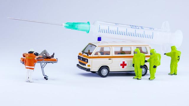 Mobiles Impfteam bei der Arbeit.