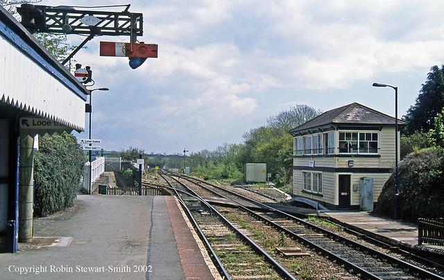 GWR Liskeard Station and Signal Box on 4th May 2002