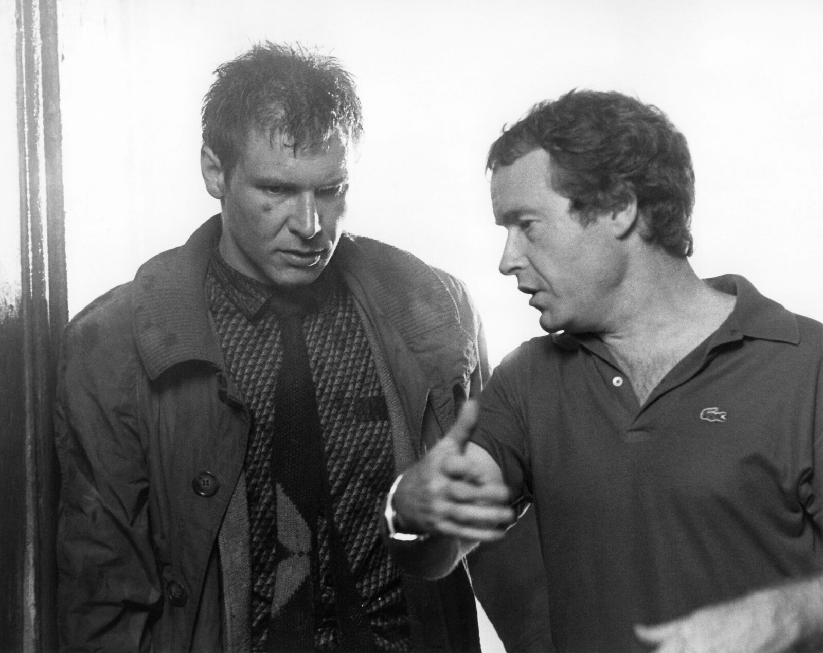 Харрисон Форд и Ридли Скотт на съемках фильма «Бегущий по лезвию»