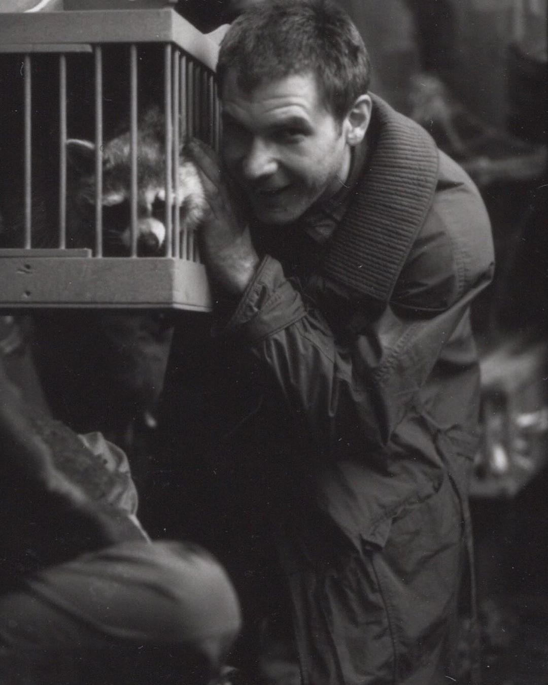 Харрисон Форд на съемках фильма «Бегущий по лезвию»