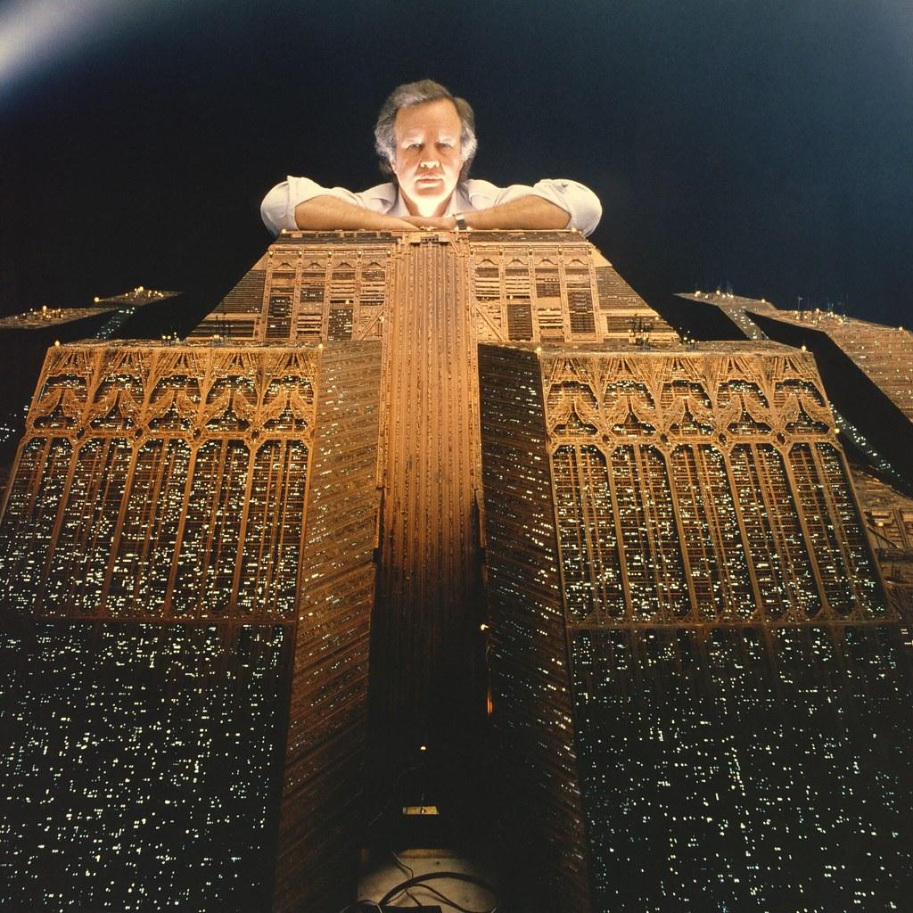 Ридли Скотт на съемках «Бегущего по лезвию»
