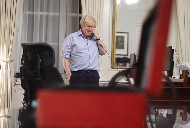 Boris Johnson speaks to Joe Biden