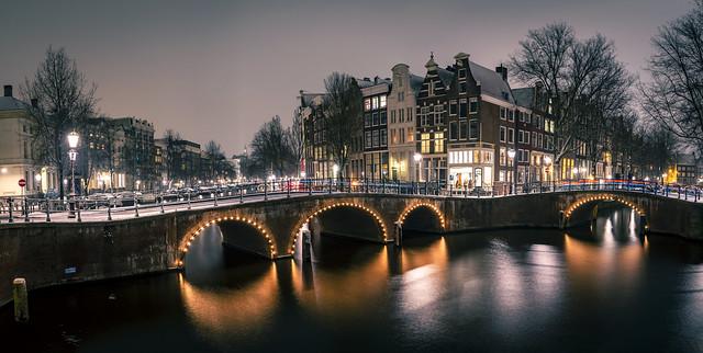 Idyllic Snow in Amsterdam