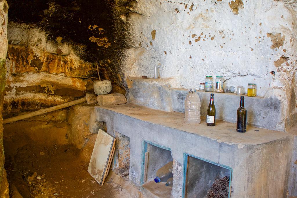 Interior de un casa-cueva en Tenerife