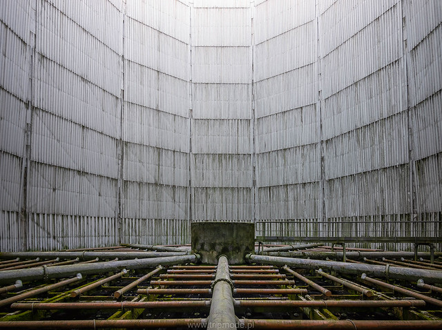 Disused cooling tower