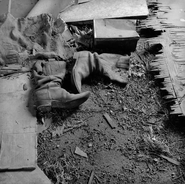 Cowboy Boots, Abandoned Farmhouse, Eastern Washington