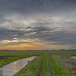 20. Jaanuar 2021 - 17:16 - Dark soon. The flat landscape of the Western part of the Netherlands