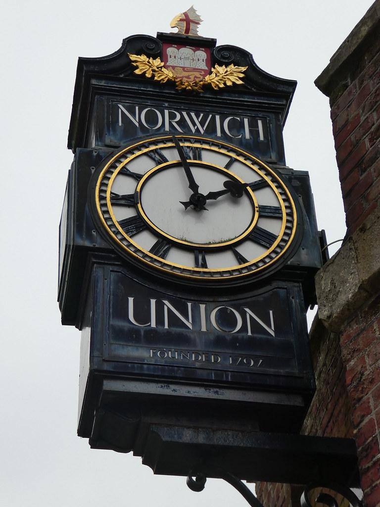 Norwich Union Clock at Surrey House, Norwich