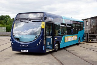 Arriva North East, No. 1593 / NK15 AAN, a Wright StreetLite Max with Wright StreetLite Max B44F bodywork.