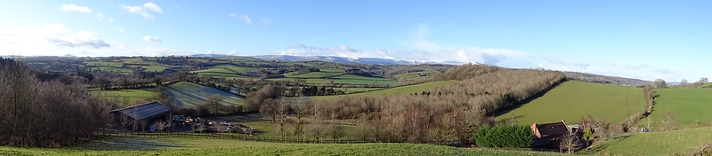 Canns Hill Panorama: from Skirrid to Hay Bluff