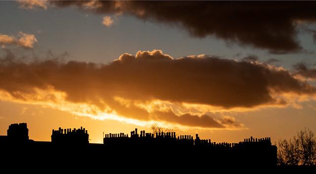 Sunset & architecture
