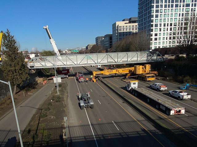 Flanders Crossing Bridge installation