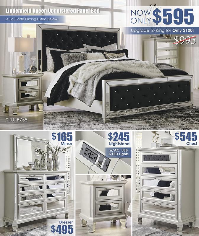 Lindenfield Queen Panel Bed_B758-31-36-46-158-156-197-92