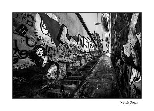 chile valparaíso streetphotography street strada calle canon graffiti escalera stairs scala arteurbano art arte urbanlandscape urbanphotography urbanart bn bw bianco blanco black negro nero white