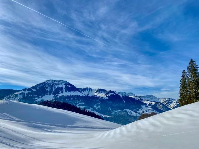 Winter mountain landscape in Bavaria, Germany