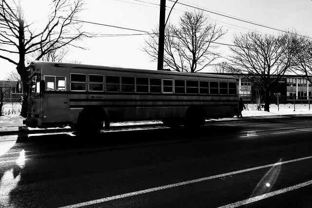 L'autobus scolaire est en avance...