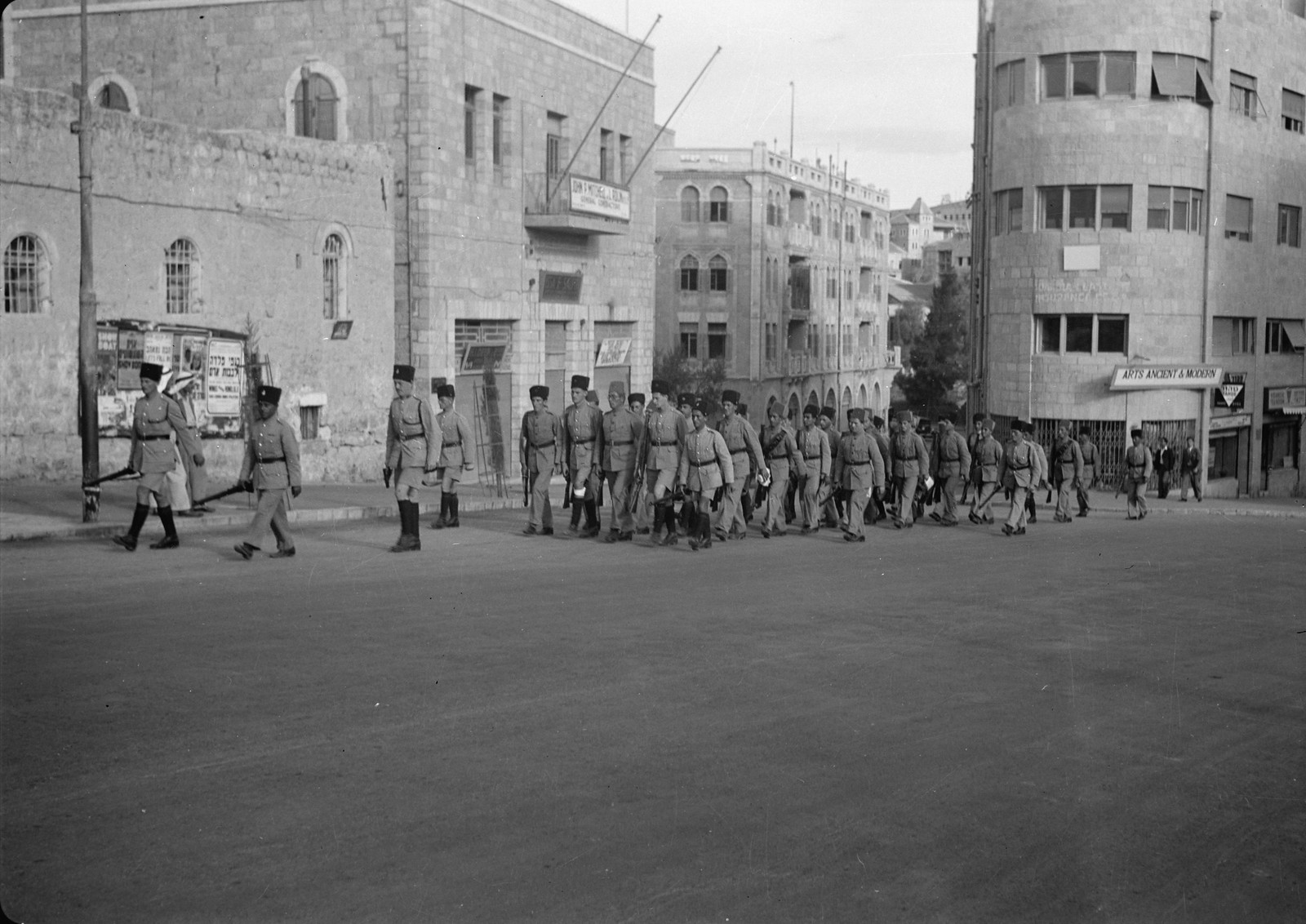 07. 1938. Вспомогательная еврейская полиция в Иерусалиме