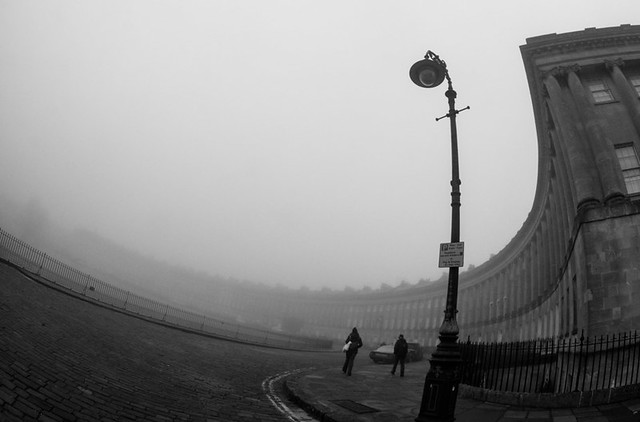 Royal Crescent in the mist