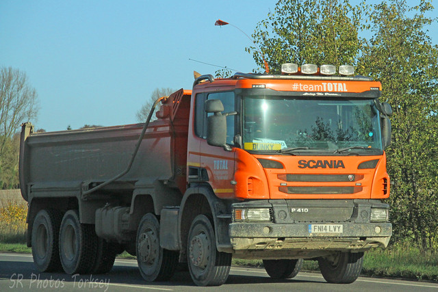 Scania P410 Total Aggregates FN14 LVY