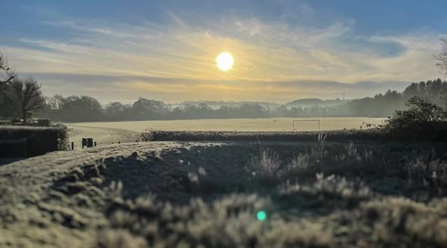 Sunrise Frosty Fields