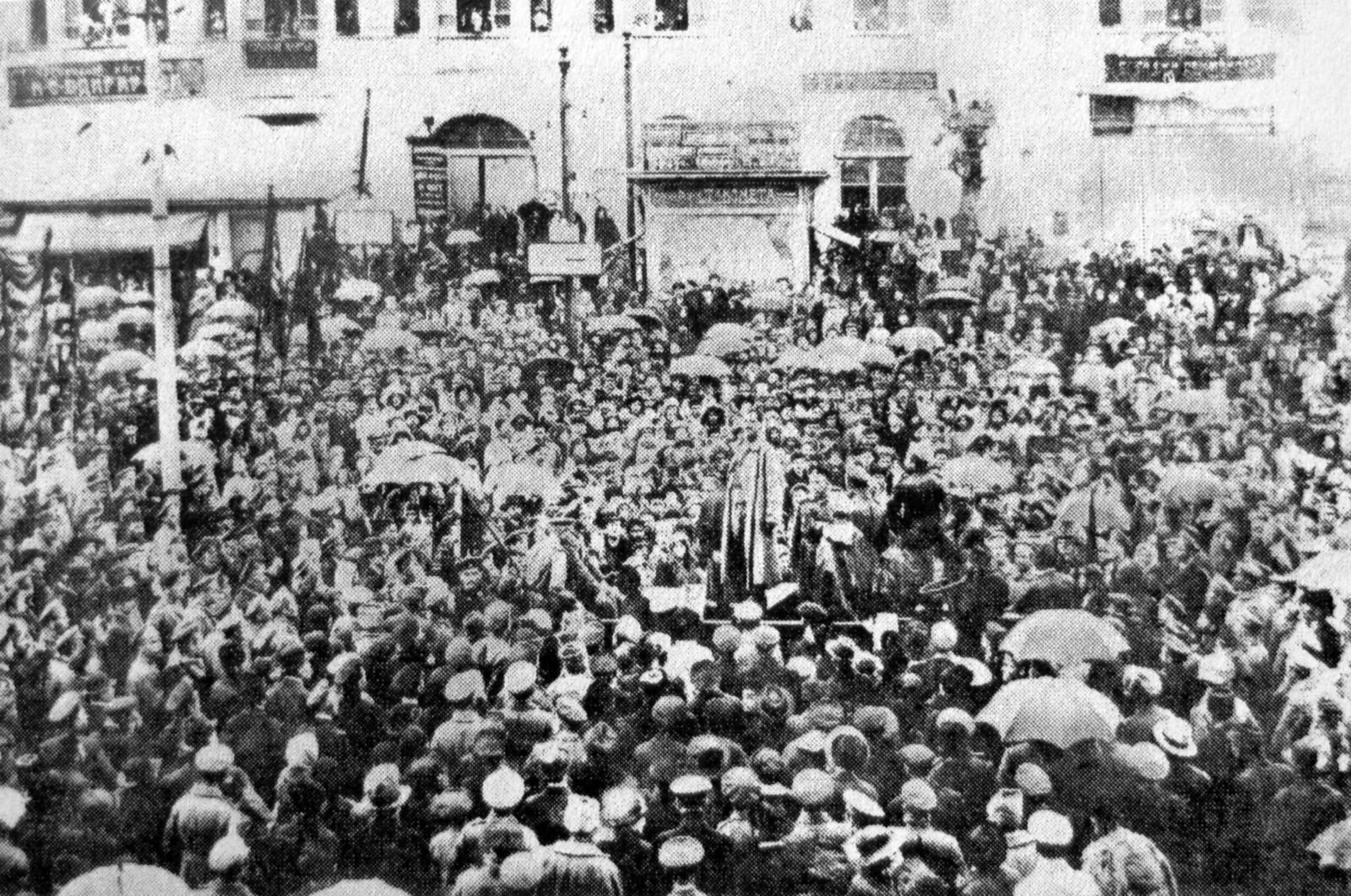 Народная демонстрация на Эриванской площади. Февраль 1917