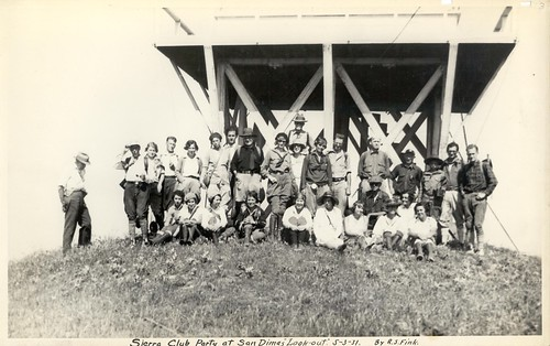 Group portrait, Sierra Club party at San Dimas Lookout, 1931 | by MissyAdventures