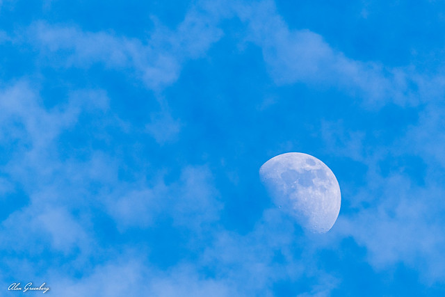 Moon in the clouds