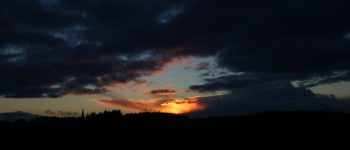 sunset winter storm cloudscape halstead essex intense colourful