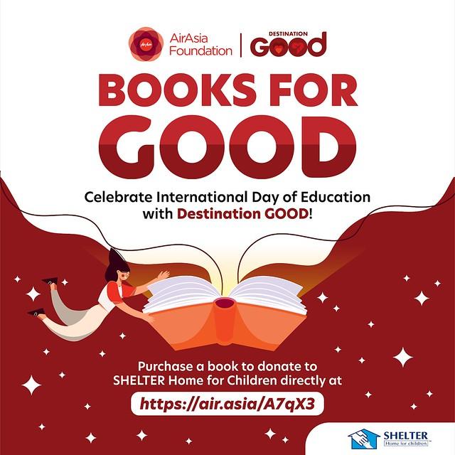 AirAsia Foundation Anjur Kempen Sumbangan Buku Kepada Kanak-Kanak
