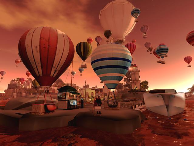 Lavender Lake Balloon Festival - Sunset Love