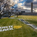 2021 Playoff Week Stunts: Run It Back Lawn Paintings