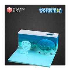 Doraemon Nobita Omoshiroi Block 3D Memo Pad with Pen Holder