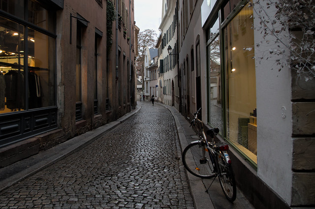 Alley in Strasbourg France