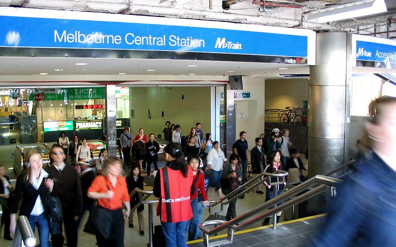 Melbourne Central Station: Swanston St entrance 2003, before redevelopment