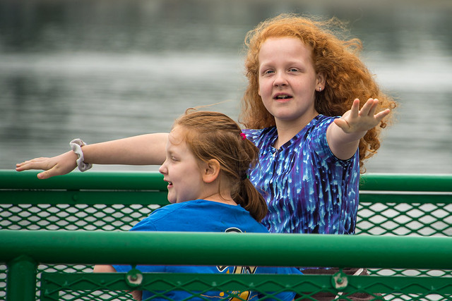 Two Redheads on the Ferry