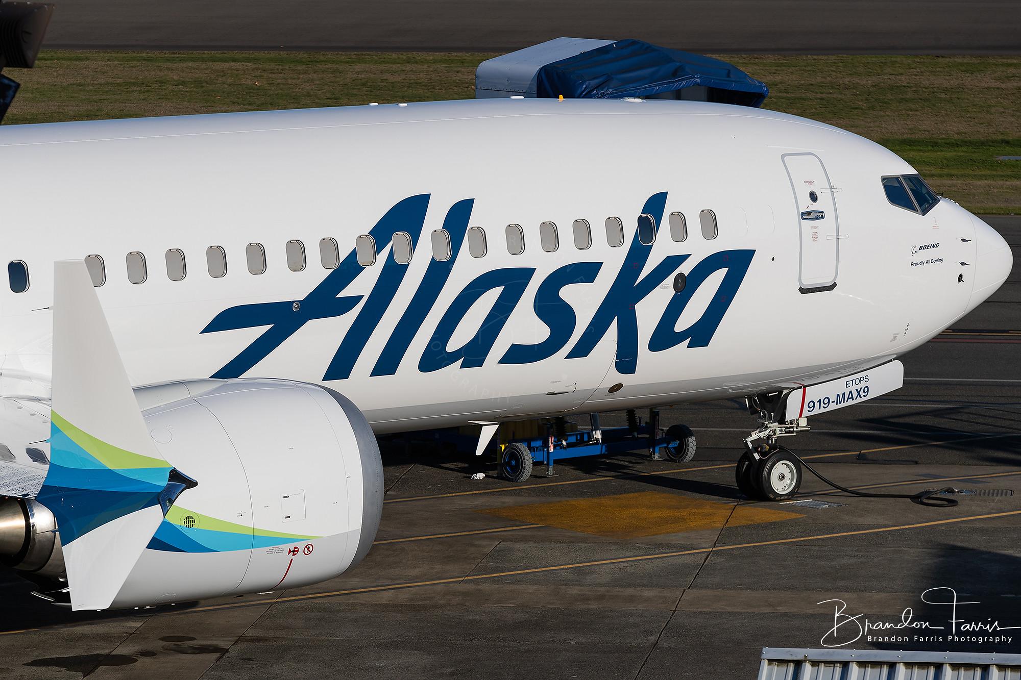 N919AK Alaska Airlines Boeing 737 MAX 9