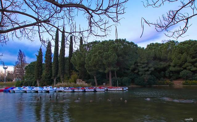 Barquitas en el lago