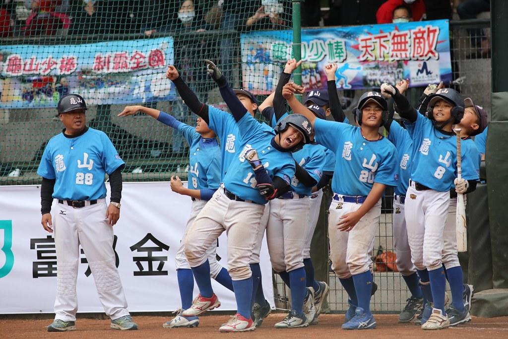 龜山國小奪富邦盃隊史第3冠。(中華棒協提供)
