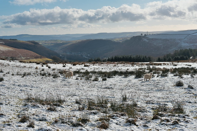 The Darran valley from a cold Gelligaer Common