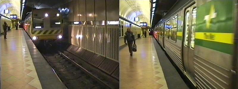 Flagstaff station platform 4, 1994